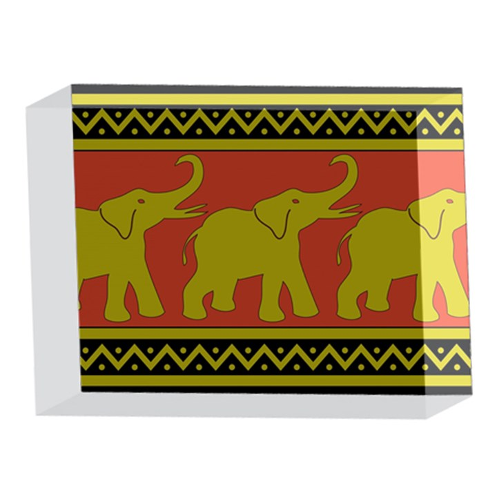 Elephant Pattern 5 x 7  Acrylic Photo Blocks