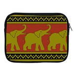 Elephant Pattern Apple iPad 2/3/4 Zipper Cases Front