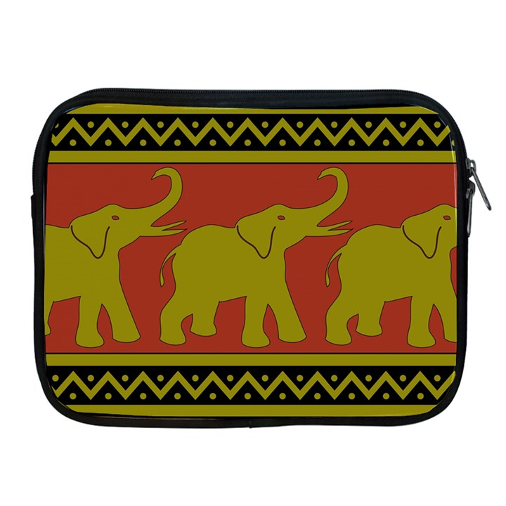 Elephant Pattern Apple iPad 2/3/4 Zipper Cases