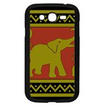 Elephant Pattern Samsung Galaxy Grand DUOS I9082 Case (Black) Front