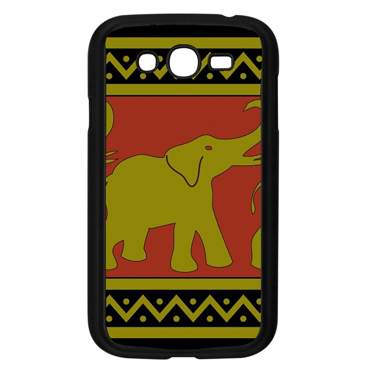 Elephant Pattern Samsung Galaxy Grand DUOS I9082 Case (Black)