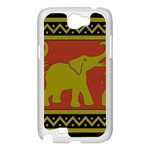 Elephant Pattern Samsung Galaxy Note 2 Case (White) Front
