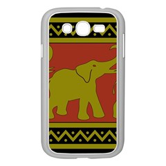Elephant Pattern Samsung Galaxy Grand DUOS I9082 Case (White)