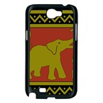 Elephant Pattern Samsung Galaxy Note 2 Case (Black) Front