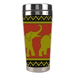 Elephant Pattern Stainless Steel Travel Tumblers Left