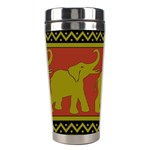 Elephant Pattern Stainless Steel Travel Tumblers Center
