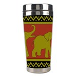 Elephant Pattern Stainless Steel Travel Tumblers Right