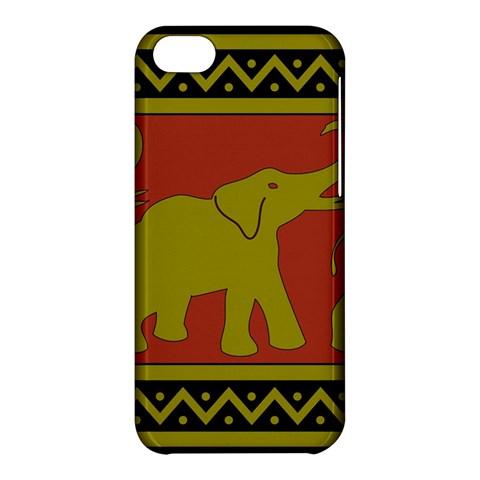 Elephant Pattern Apple iPhone 5C Hardshell Case