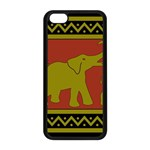 Elephant Pattern Apple iPhone 5C Seamless Case (Black) Front