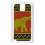 Elephant Pattern Samsung Galaxy Note 3 N9005 Case (White) Front