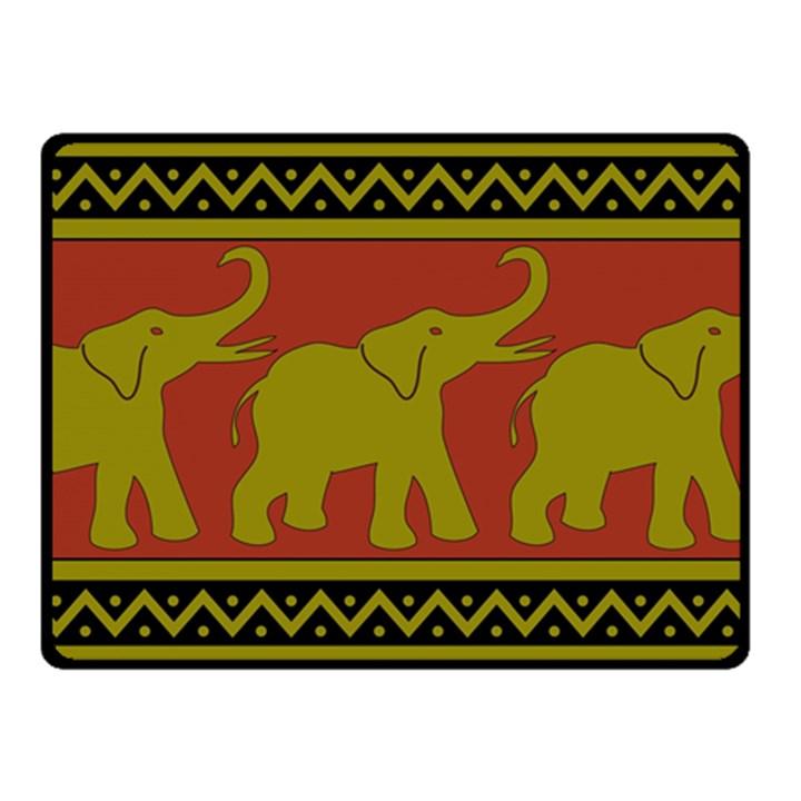 Elephant Pattern Double Sided Fleece Blanket (Small)