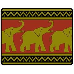 Elephant Pattern Double Sided Fleece Blanket (Medium)