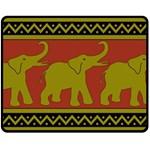 Elephant Pattern Double Sided Fleece Blanket (Medium)  60 x50 Blanket Front
