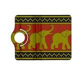 Elephant Pattern Kindle Fire HD (2013) Flip 360 Case Front