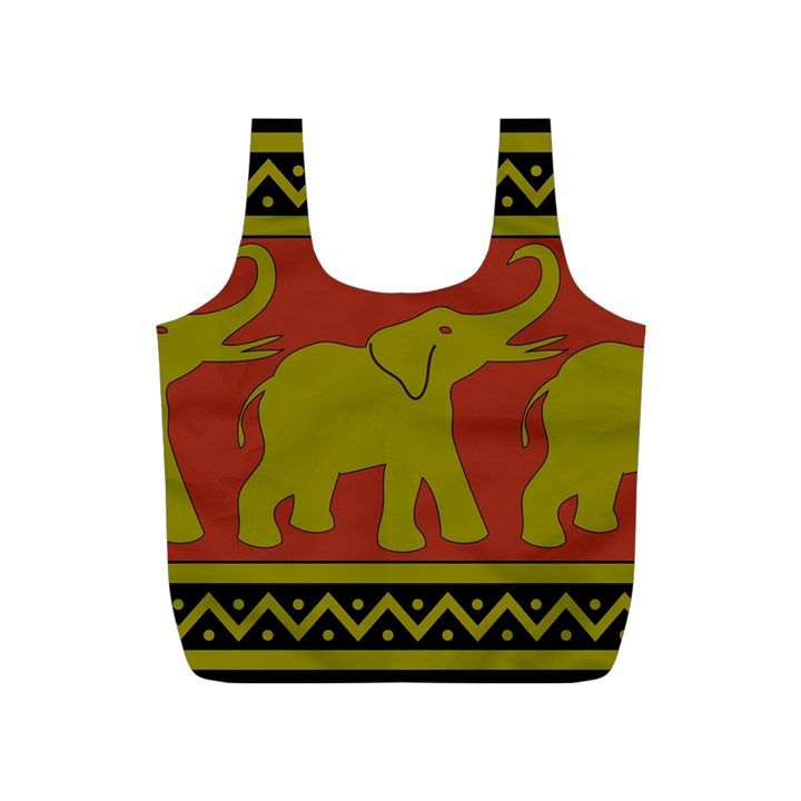 Elephant Pattern Full Print Recycle Bags (S)