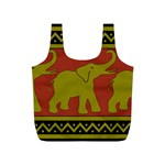 Elephant Pattern Full Print Recycle Bags (S)  Back
