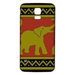 Elephant Pattern Samsung Galaxy S5 Back Case (White) Front