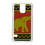Elephant Pattern Samsung Galaxy S5 Case (White) Front