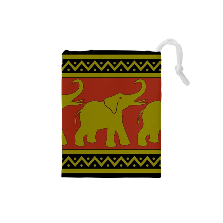Elephant Pattern Drawstring Pouches (Small)