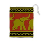Elephant Pattern Drawstring Pouches (Large)  Front