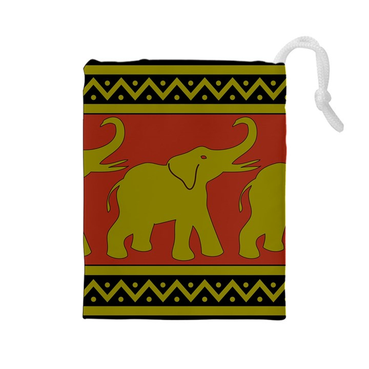 Elephant Pattern Drawstring Pouches (Large)