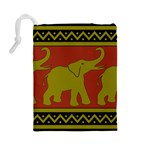 Elephant Pattern Drawstring Pouches (Large)  Back