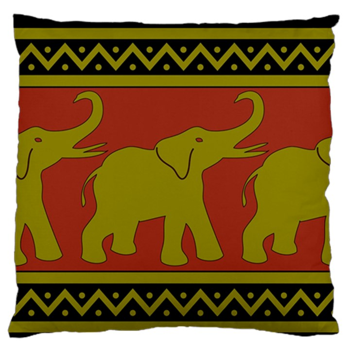 Elephant Pattern Large Flano Cushion Case (Two Sides)