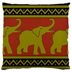 Elephant Pattern Large Flano Cushion Case (Two Sides) Back