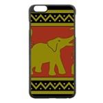 Elephant Pattern Apple iPhone 6 Plus/6S Plus Black Enamel Case Front