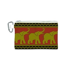 Elephant Pattern Canvas Cosmetic Bag (S)