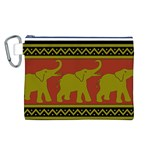 Elephant Pattern Canvas Cosmetic Bag (L) Front