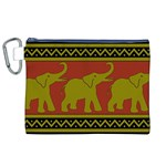 Elephant Pattern Canvas Cosmetic Bag (XL) Front
