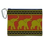 Elephant Pattern Canvas Cosmetic Bag (XXL) Front