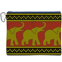 Elephant Pattern Canvas Cosmetic Bag (XXXL)