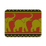 Elephant Pattern Double Sided Flano Blanket (Mini)  35 x27 Blanket Front