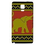 Elephant Pattern Galaxy Note 4 Back Case Front