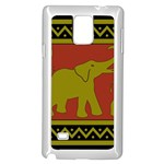 Elephant Pattern Samsung Galaxy Note 4 Case (White) Front