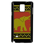 Elephant Pattern Samsung Galaxy Note 4 Case (Black) Front