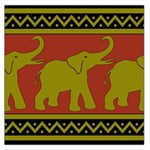 Elephant Pattern Large Satin Scarf (Square) Front