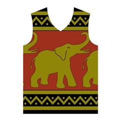 Elephant Pattern Men s Basketball Tank Top