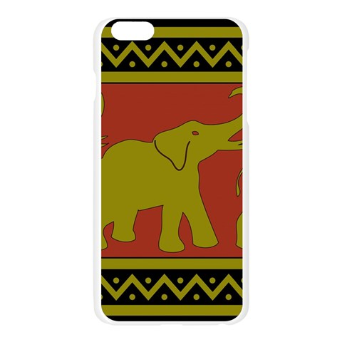 Elephant Pattern Apple Seamless iPhone 6 Plus/6S Plus Case (Transparent)