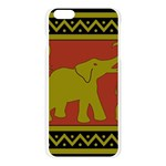 Elephant Pattern Apple Seamless iPhone 6 Plus/6S Plus Case (Transparent) Front