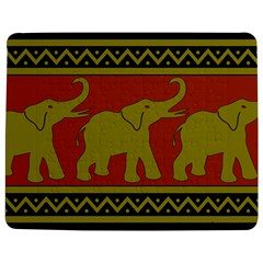 Elephant Pattern Jigsaw Puzzle Photo Stand (Rectangular)