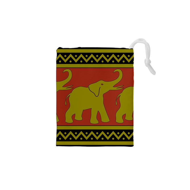 Elephant Pattern Drawstring Pouches (XS)