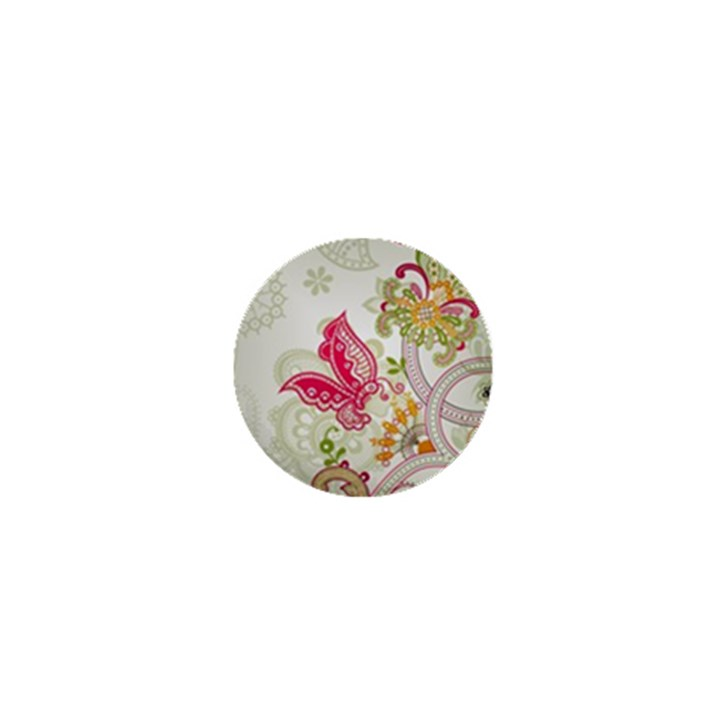 Floral Pattern Background 1  Mini Magnets