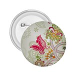 Floral Pattern Background 2.25  Buttons Front