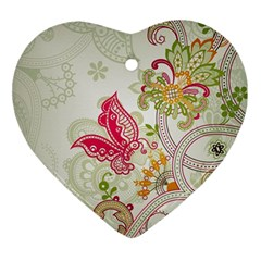 Floral Pattern Background Ornament (Heart)