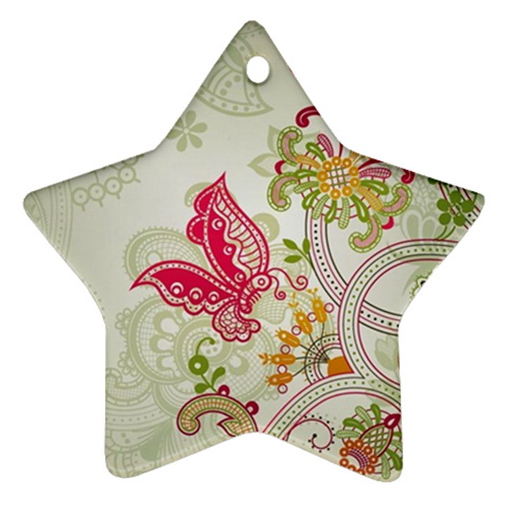 Floral Pattern Background Ornament (Star)