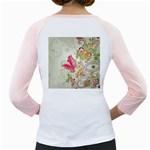 Floral Pattern Background Girly Raglans Back