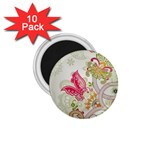 Floral Pattern Background 1.75  Magnets (10 pack)  Front